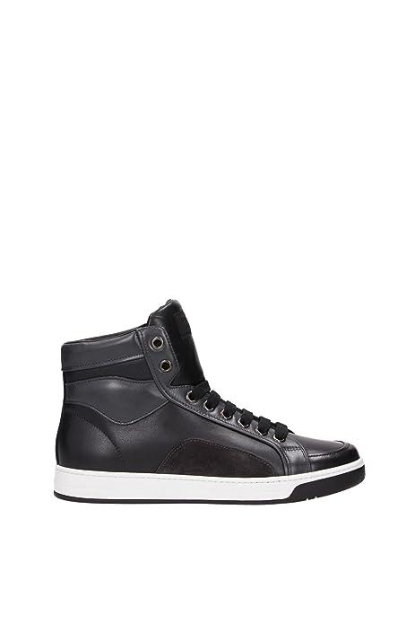 Prada Scarpe Sneakers Alte Uomo in Pelle Nuove Plume Color Nero  Amazon.it   Scarpe e borse 076ec085f6a