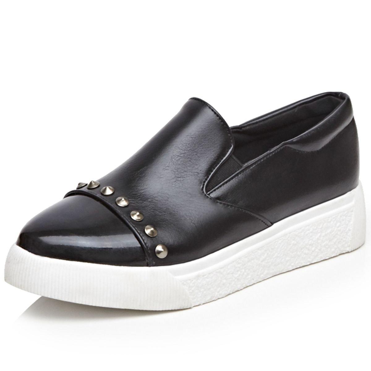 DecoStain Women's Fashion Comfort Slip On Platform Heels Sneakers Loafers Flat Dress Shoes