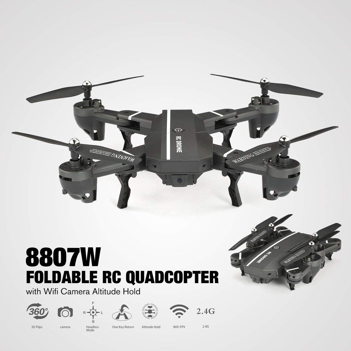 Kongqiabona 8807W 8807 Dron cuadricóptero teledirigido con batería ...