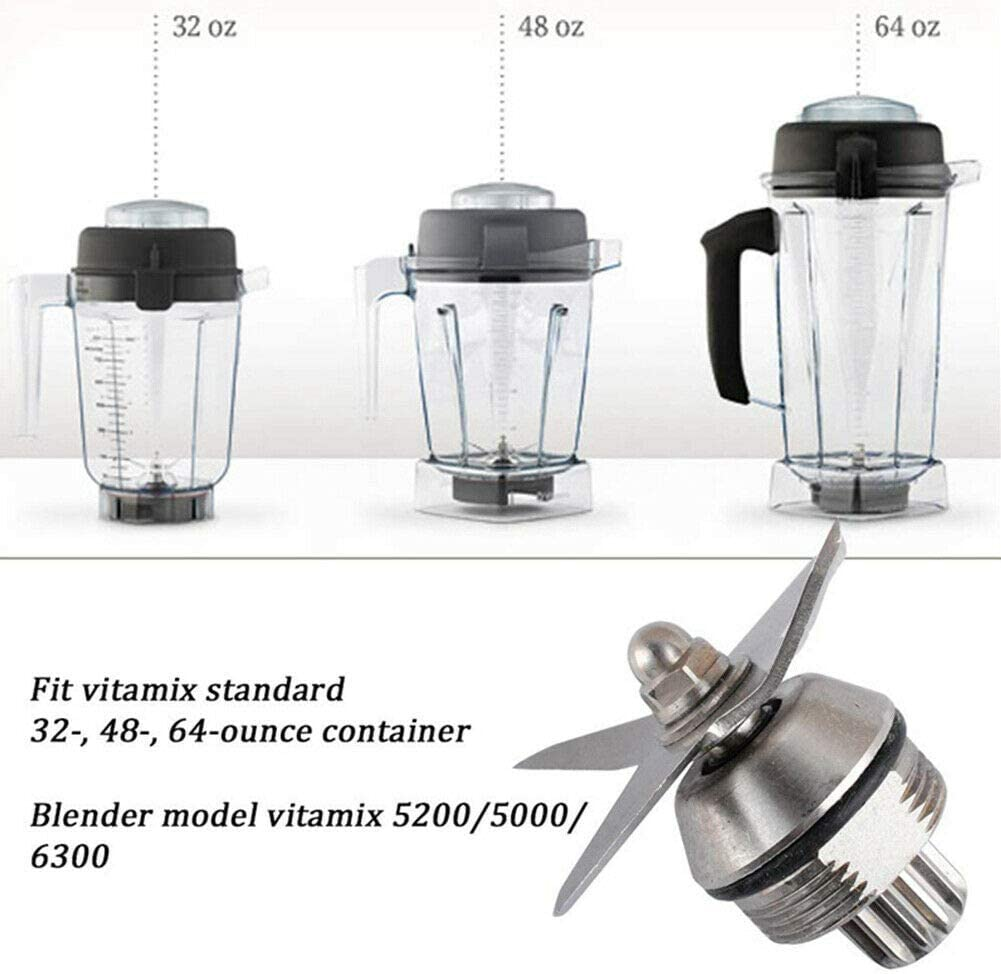 Ansemen Cuchillo Mezclador de Repuesto para Vitamix 5200/5000/6300 ...