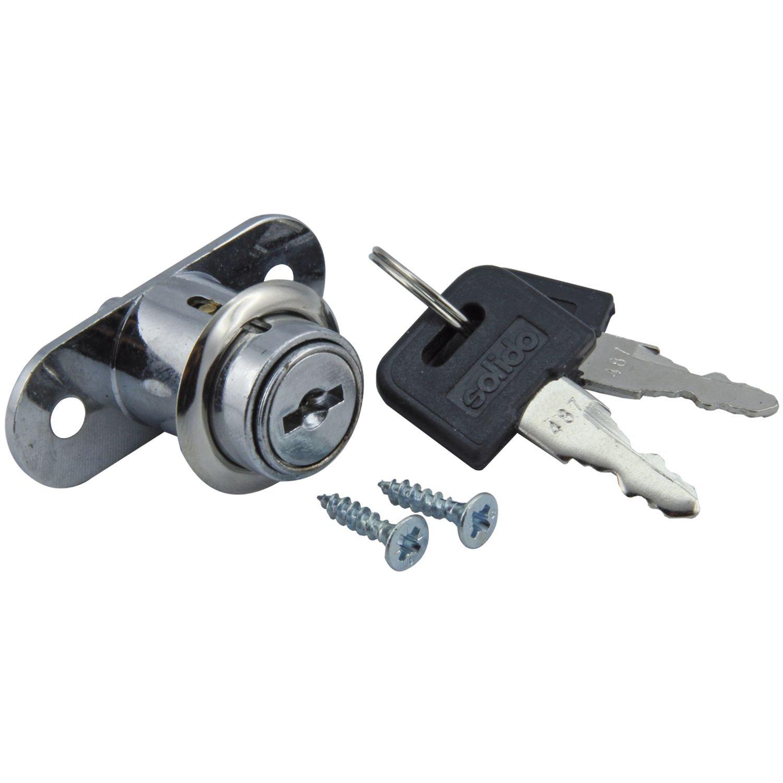 SECTOTEC Schiebetür-Druckzylinder Ø 21, 5 mm | Zylinder-Druckschloss | Schiebetür-Schloss | Schiebetür-Zylinder | 1 Garnitur SECOTEC 105033066