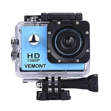 YMHX Vemont Cámara Deportiva 1080P HD Impermeable 30M Pantalla de