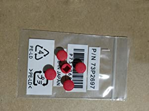 nbparts 5pcs Rubber Mouse Pointer TrackPoint Red Cap for Lenovo Thinkpad Laptop Nipple
