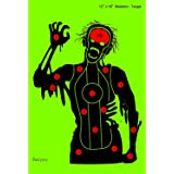 faxyxy Shooting Targets Skeleton Paper Target 12 x18 inch, Funny Outdoor/Competition Shots Shooting Range Reactive Targets Br