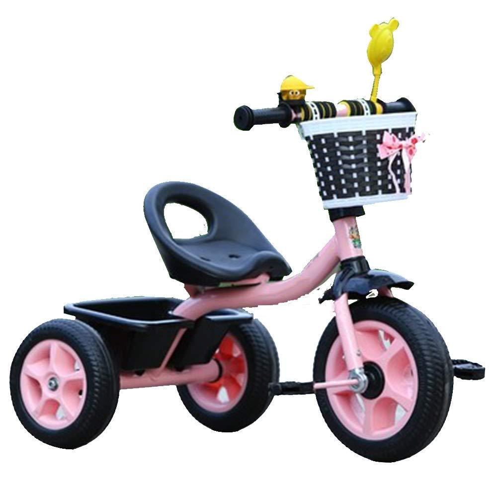 YUMEIGE Dreiräder Kinder Dreirad mit Kinder Pedal Fahrrad 1-6Years Alt , Lastgewicht 50kg Kinderwagen Jungen Mädchen Spielzeugauto Rosa