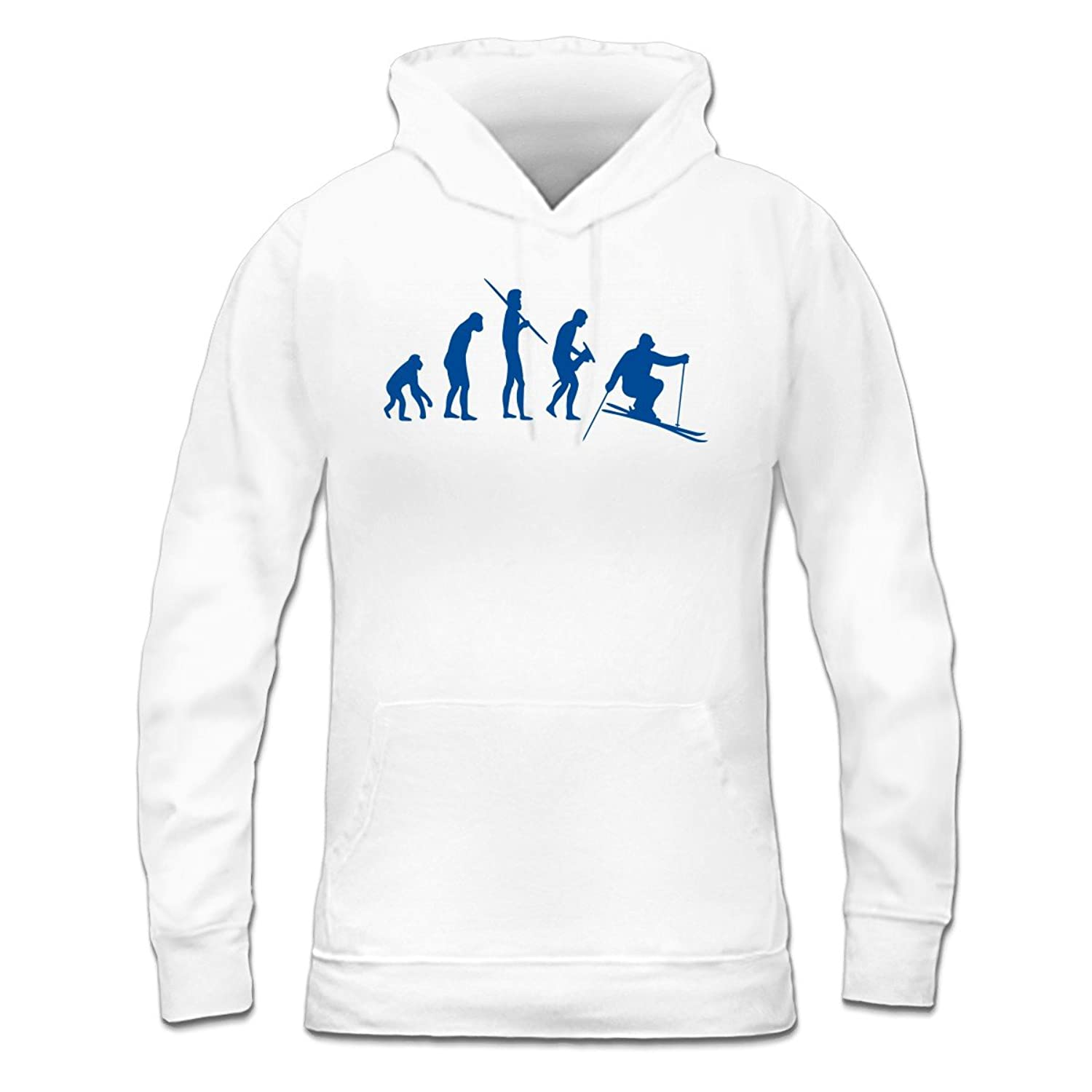 Ski Evolution Frauen Kapuzenpullover by Shirtcity