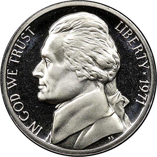1971 S Proof Clad Jefferson Nickel PF1