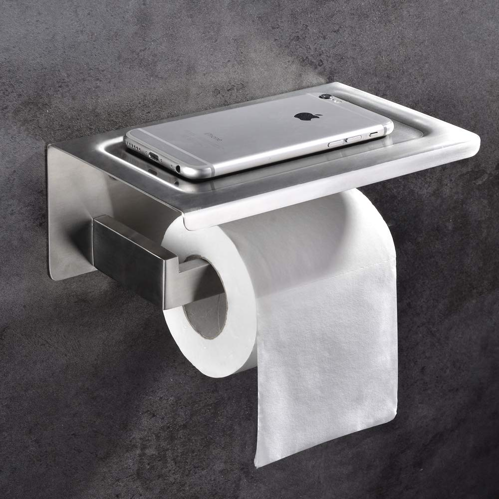 SHAMANDA Toilet Paper Holder with Shelf