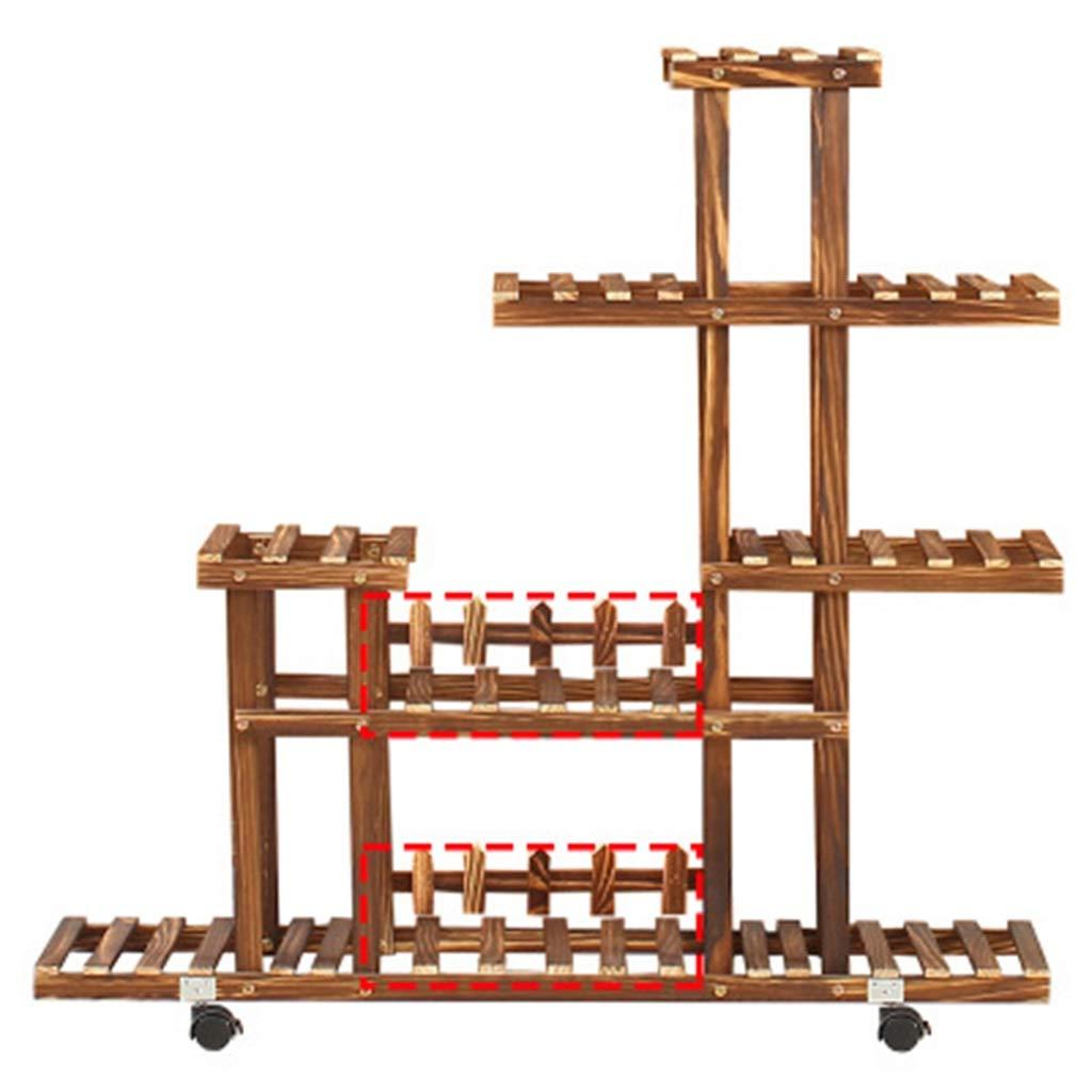 G-ZWJXX Espositore Multi-Strato per Vasi da Fiori in Pianta da Giardino con Pianta di Fiori in Legno, Adatto per Terrazzi con Balcone