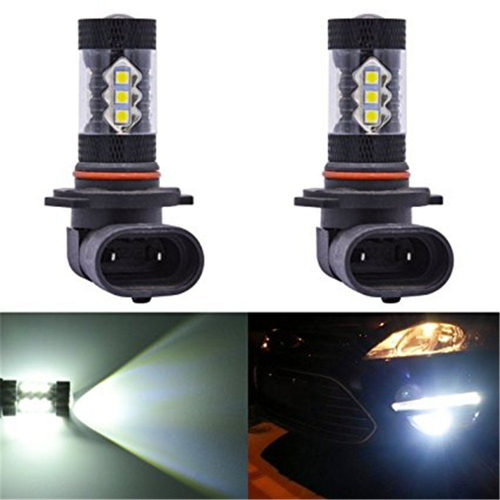 kingnew 2/ unidades 80/ W H10/ 9005/ HB3/ 9006/ HB4/ 3030/ 16/ SMD LED antiniebla Faros Driving DRL Auto Luz L/ámpara High Power