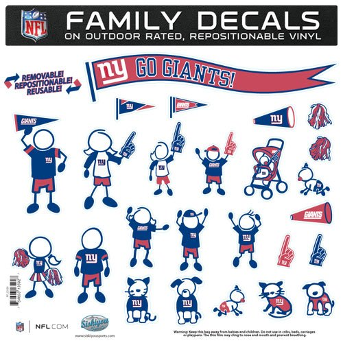 - NFL New York Giants Large Family Decal Set