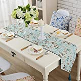 SunnyRain 1-Piece Pastoral Jaquard Table Runner Wedding Party Table Decoration Table Runners