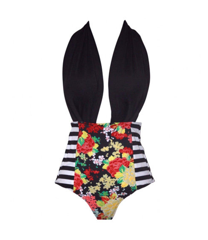 2 Styles Little Girl+Mother Floral Top Stripe Bottom Big Bowknot Bikini Set