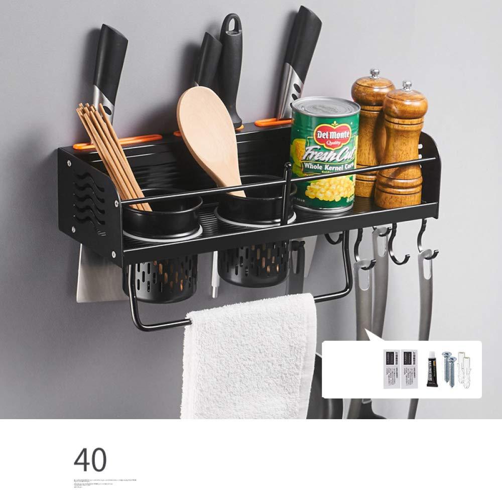 WLG Scaffali da cucina senza forature, scaffali a parete, scaffali scaffali scaffali di stoccaggio, scaffali da taglio condimento, utensili da cucina, porta coltelli,Doppia tazza,50 centimetri | Ottima selezione  | Di Modo Attraente  | Beautiful  | Ultima Tecnologia  | b17057