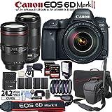 Canon EOS 6D Mark II Digital SLR Camera with EF 24-105mm IS USM Lens & EF 70-300mm IS II USM Lens & Travelers Bundle