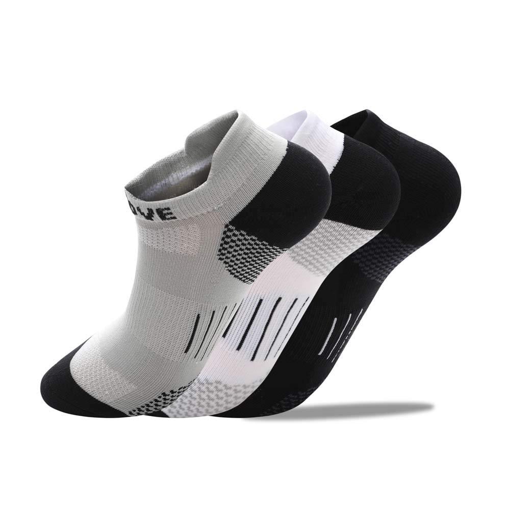 RuRu Monkey Hidden Dry Moisture-Wicking Socks (3 Pair)