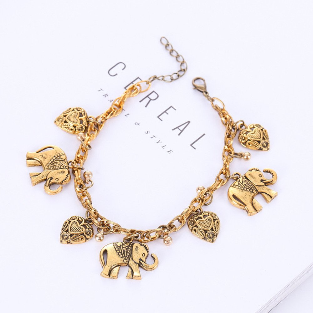 INSANEY Women Anklets Jewelry Starfish Charm and Elephant Anklet Adjustable Chain for