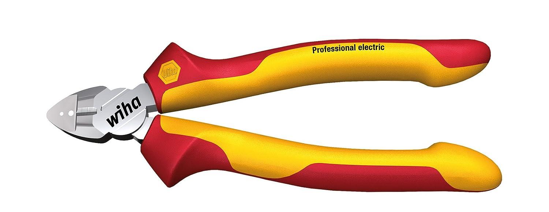 Wiha Abisolier-Seitenschneider Professional electric mit DynamicJoint (einzigartige Gelenkkonstruktion fü r bessere Kraftü bertragung)  (27431) 160 mm Zange fü r Elektriker, VDE geprü ft, stü ckgeprü ft, stabil und robust Z140