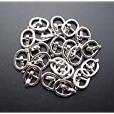 BJD shoes buckle,Diy bjd Japanese doll bag buckles belt buckle sewing fasteners 20 pcs (silver)