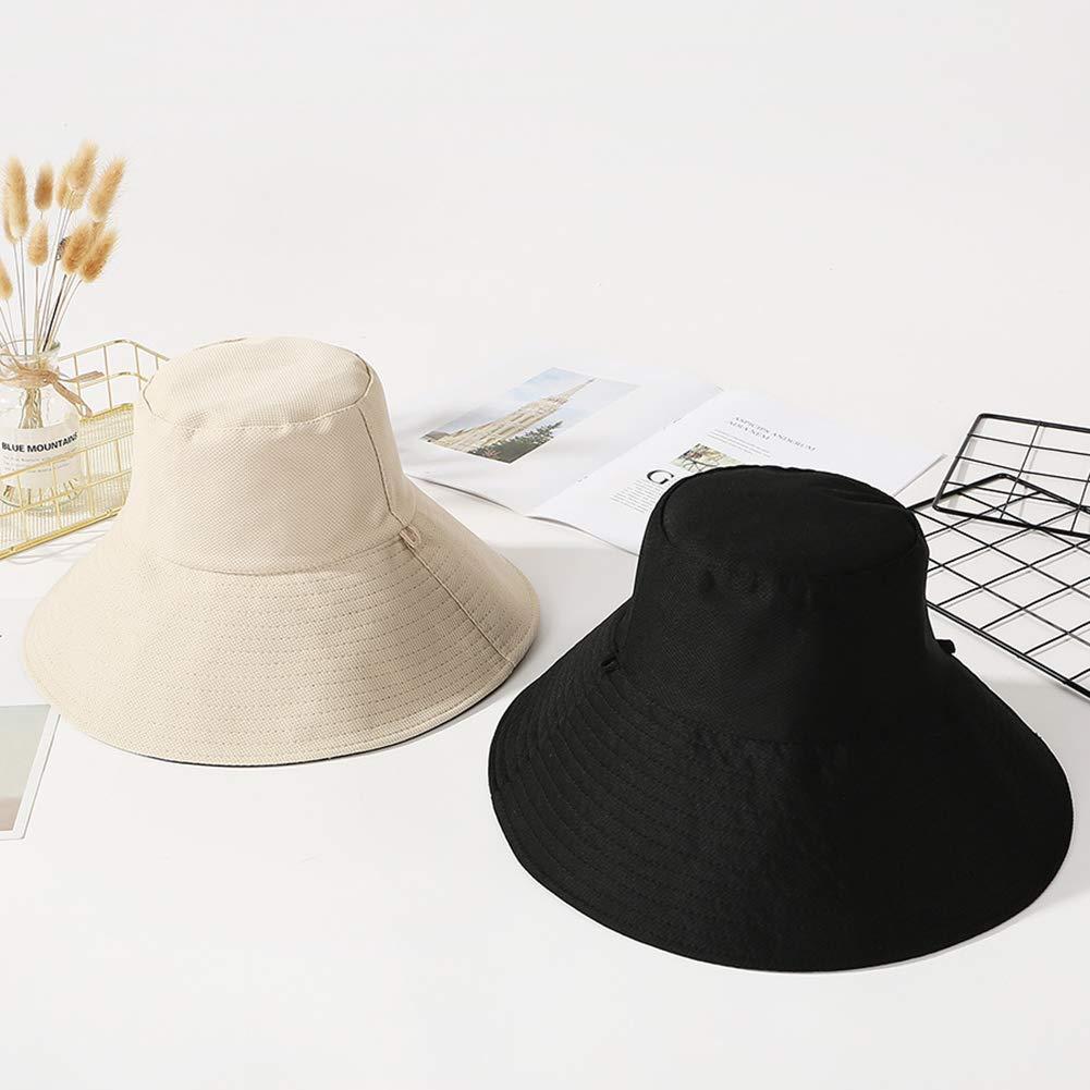 Sun Hat for Women Summer Hut Hiking Fischerhut mit Kinnriemen Yuccer Sonnenhut Damen uv Schutz Faltbar