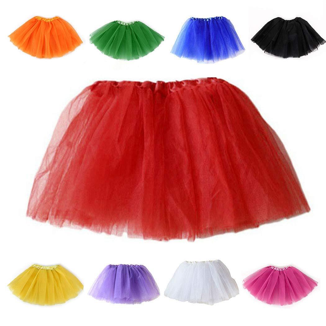 Ballet Dress-up Skirt Princess Dancewear Kids Girls 3 Layers Mesh Ruched A-Line Tutu Skirts