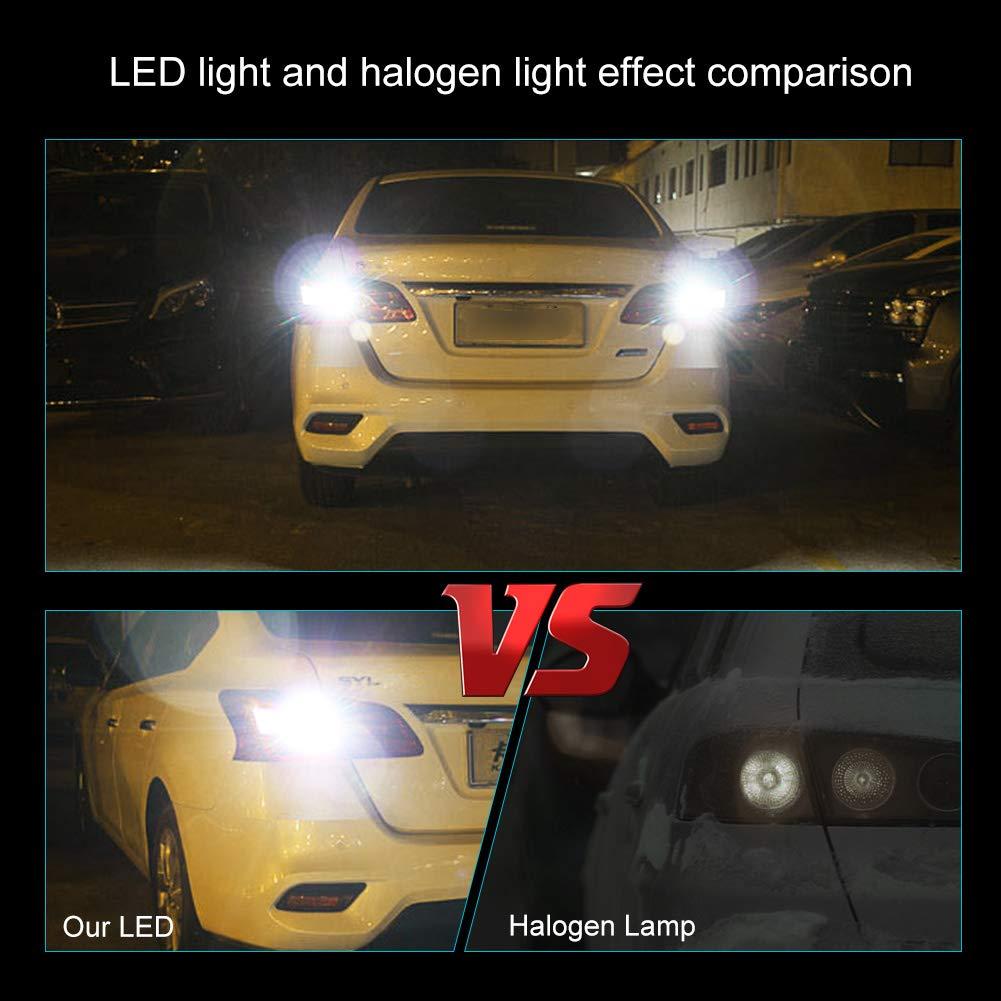 TUINCYN 7443 7440 T20 7444NA 992 LED Turn Signals Light Bulbs Amber Yellow Super Bright 3014 54-EX Chipsets Backup Reverse Light Parking Light Daytime Running Light DRL Tail Light 2-Pack