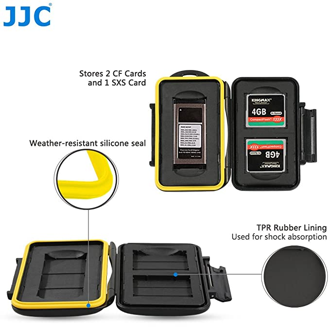 JJC MC-CF/SXS3 Fundas para Tarjetas de Memoria para 2 x CF y 1 x ...
