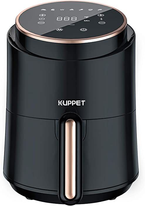 KUPPET Air Fryer, 7 in 1 Electric Air Fryers, Adjustable Temperature Control, 60 Minute Timer and Dishwasher Safe Basket, 1500W, Black