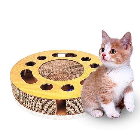 Volwco Tabla rascadora para Gatos, rascador para Gatos con Bola ...