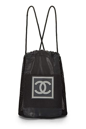 69f30edcf9b6 Amazon.com: CHANEL Black Mesh Sportline Backpack (Pre-Owned): Shoes