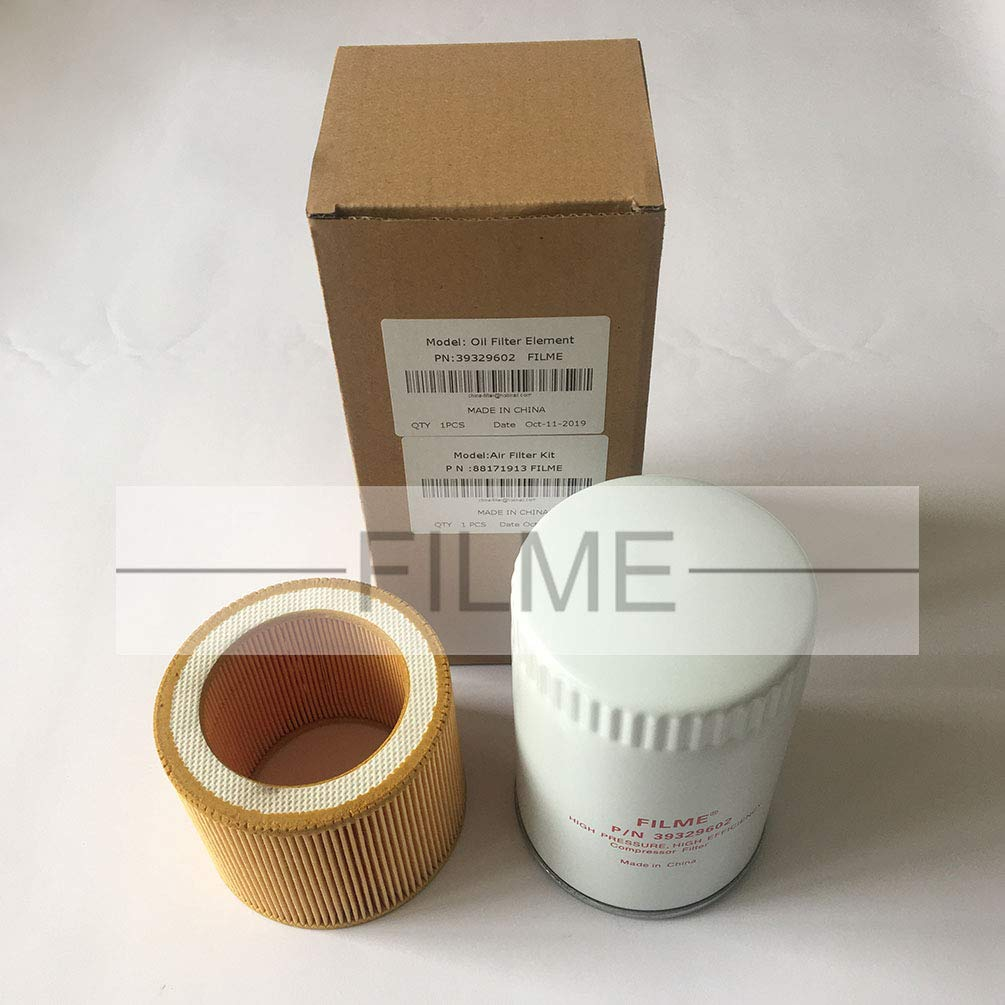 Oil Filter Kit 39329602 88171913 Air Filter Element for Ingersoll Rand Compressor UP5