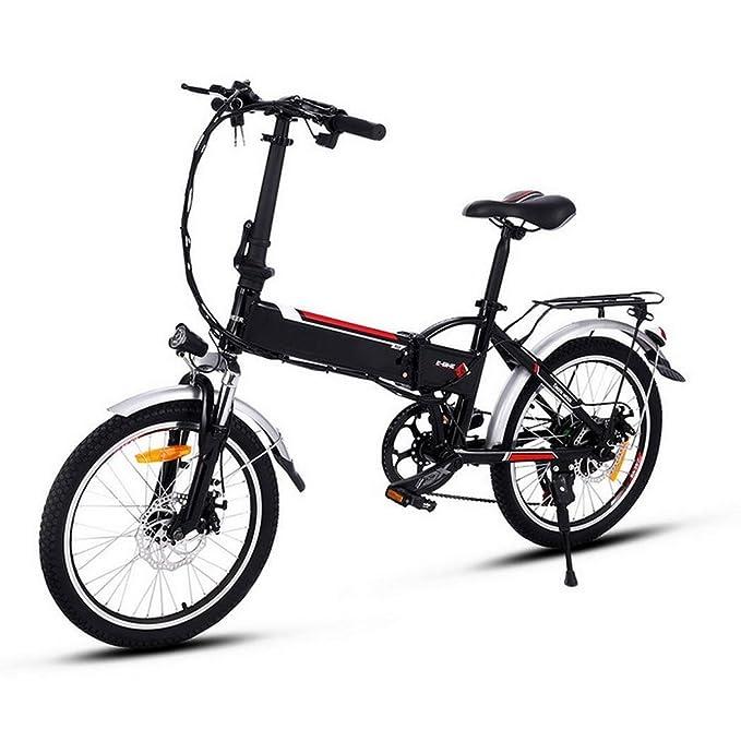 Lonlier Bicicleta Eléctrica de Montaña Bicicleta Plegable Rueda de 20 pulgadas 250W / 7 de velocidad