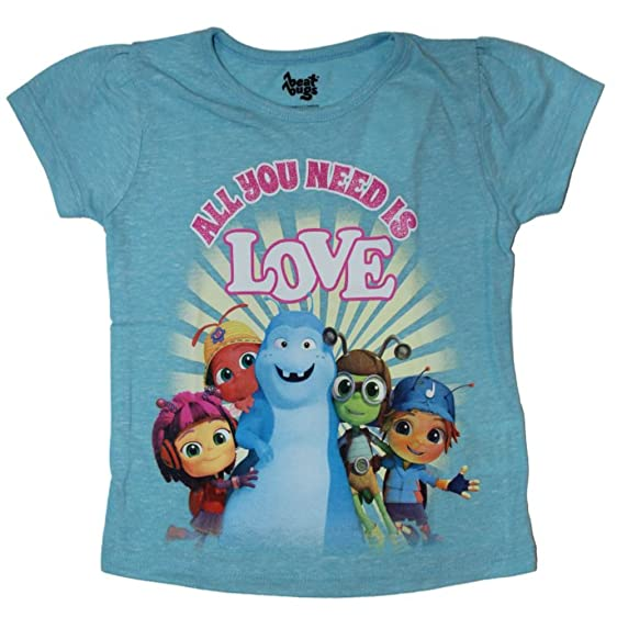 Netflix Beat Bugs Little Kids Girls Shirt Sizes 2T-5T (4T, Lt.