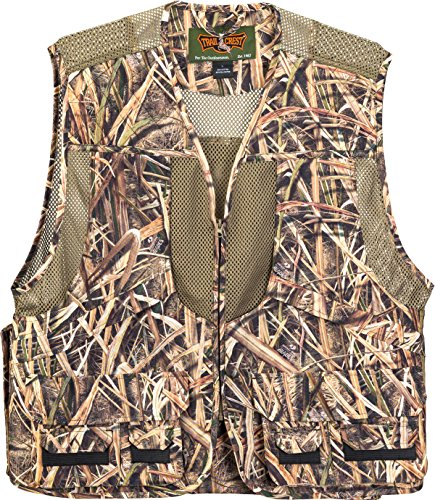 TrailCrest Kids Mossy Oak Deluxe Front Loader Hunting Vest, XS, Shadow Grass