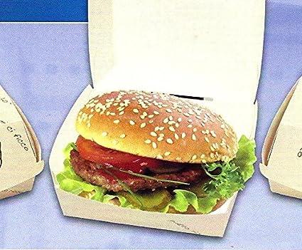 Unidades 100 Puerta hamburguesas de papel Box Panino mediano boxburger de cartón Alimentos generico