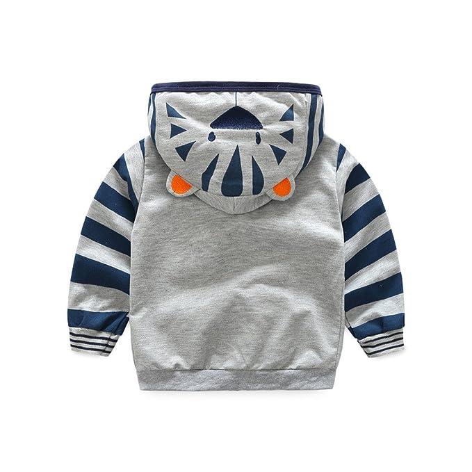 Amazon.com: Toddler Baby Boys Cute Cartoon Animal Hooded Zipper Jacket Coat Tops Clothes with Pocket: Clothing