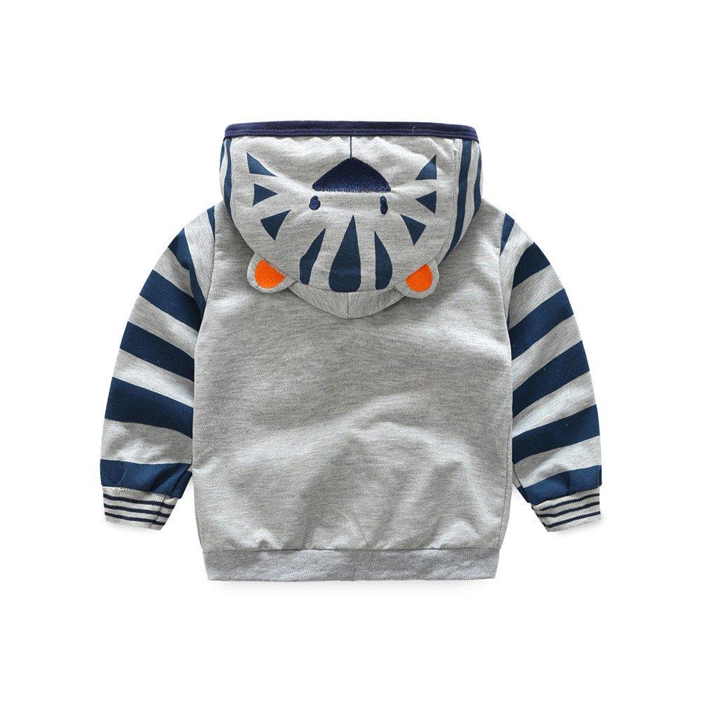 TRENDINAO Infant Toddler Baby Girl Boy Fox T-Shirt Hoodie Tops Coat Zipper Clothes