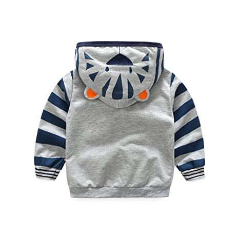 Amazon.com: Toddler Baby Boys Cute Cartoon Animal Hooded Zipper Jacket Coat Tops Clothes with Pocket: Clothing