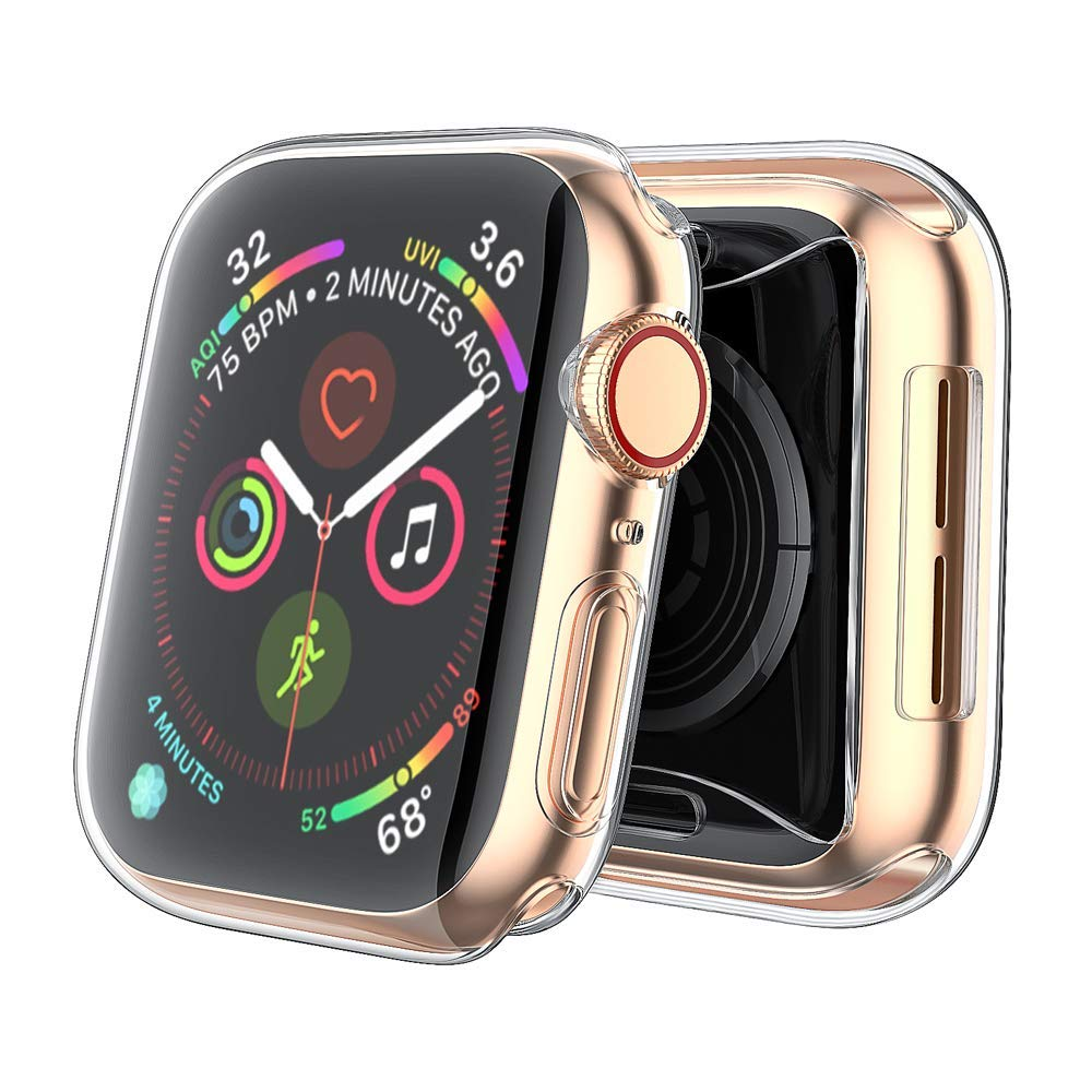 【2 Pack】 CTYBB Compatible with Apple Watch Series 4 Case with Screen Protector, Built in Soft Transparent TPU All Around Protective Cover, Replacement for iWatch Series 4 (40mm) by CTYBB (Image #8)