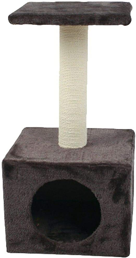 Juguete rascador para gatos Nobleza tipo columna con cueva, color ...