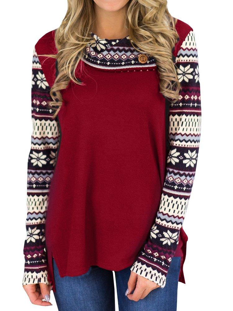 Inorin Womens Casual Cowl Neck Lightweight Sweatshirt High Low Raglan Long Sleeve T Shirt Shirts Tops
