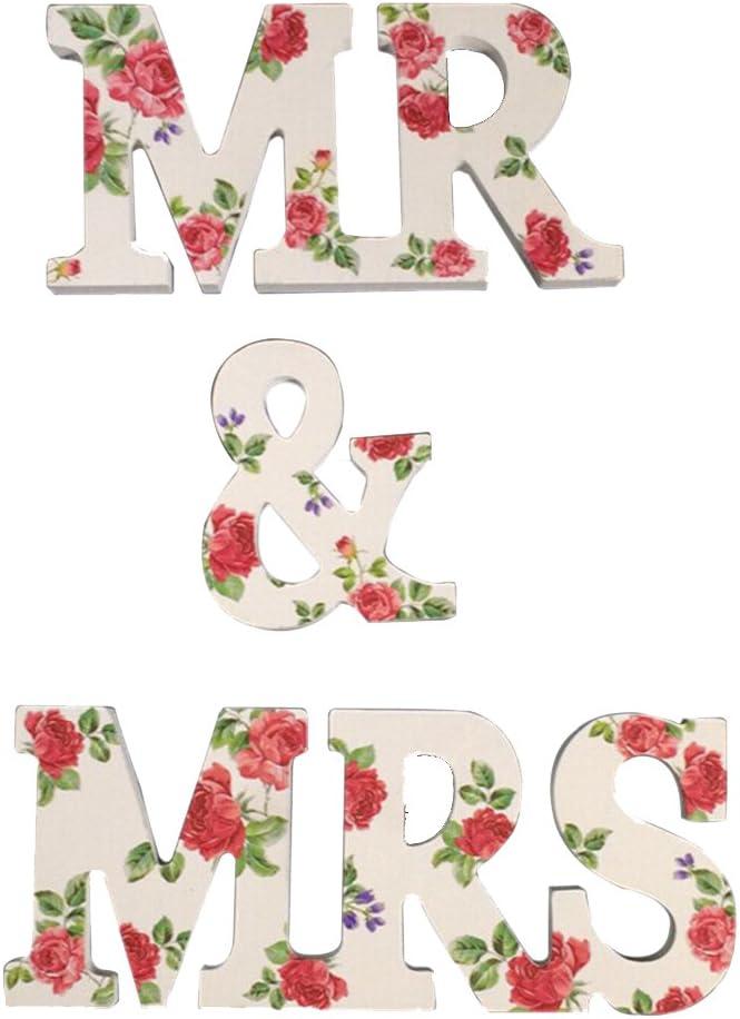 rosenice Love Madera Letra Letra Madera letras boda fijo Decoraci/ón Fotograf/ía Requisiten
