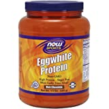 NOW Sports Eggwhite Protein Powder, Rich Chocolate,1.5-Pound