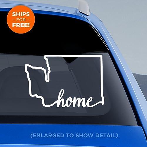 Amazoncom Washington StateHome On Bottom Decal WA Home Car - Car shows in washington state