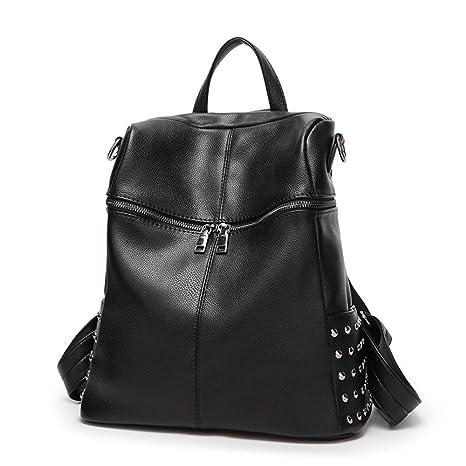 Rivet Element Mochila Lady Travel Backpack Brief Casual Student Shoulder Bag Mochila de viaje mochila estudiante