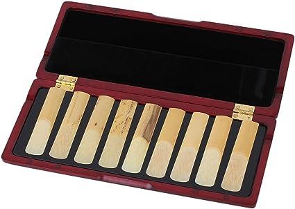 yibuy clarinete Reed caja para 10 cañas con cierre magnético color madera de caoba madera maciza: Amazon.es: Instrumentos musicales