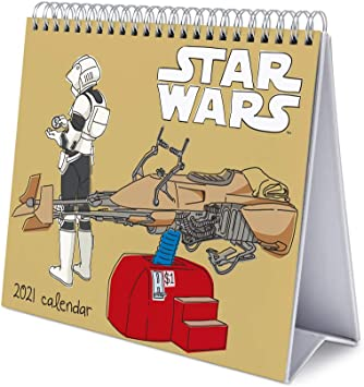 Amazon.com: Grupo Erik Star Wars Classic 2021 Desk Calendar