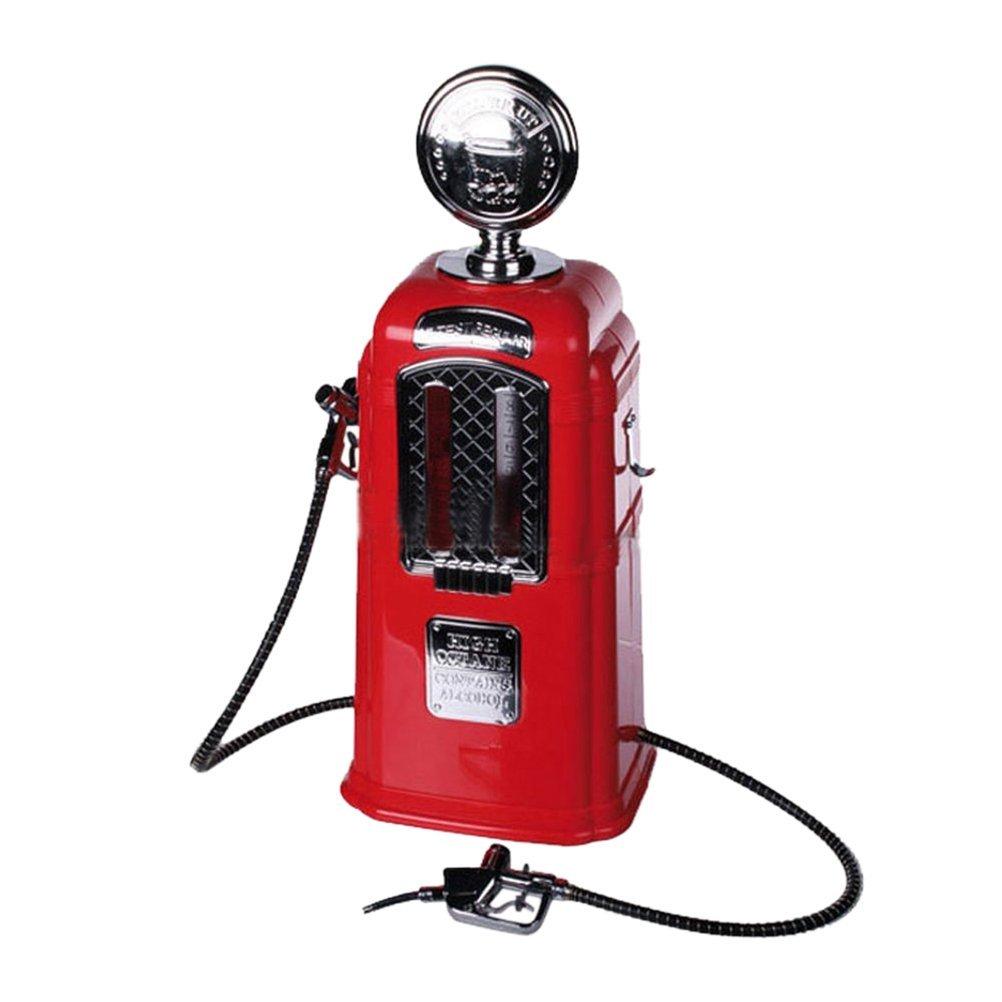 BESTONZON Spillatore di Birra Doppie Pompa forma Distributore di Benzina 1080ml (Rosso)