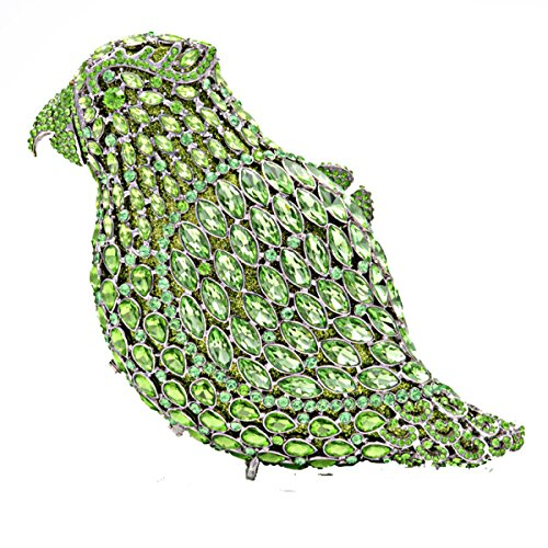 Main Soirée Haut De Oiseau Sacs D Embrayage Gamme Chaîne Cuir Luxe Pleine De Diamant Mode à Sac Sac PU YSqT17