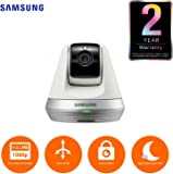 Samsung Smart Home Camera: Full HD Compact Indoor Security Auto Tracking Pan/tilt Camera, CCTV, Baby Monitor, Two-Way Audio, Motion Detect (SNH-V6410PNW/UK) White